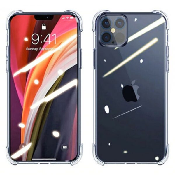 Clear Shockproof Tpu Slim Hard Phone Cover For Iphone 11,12 Mini,12 Pro Max Case (2)