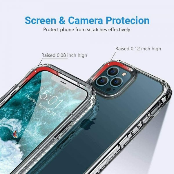 Clear Shockproof Tpu Slim Hard Phone Cover For Iphone 11,12 Mini,12 Pro Max Case (3)