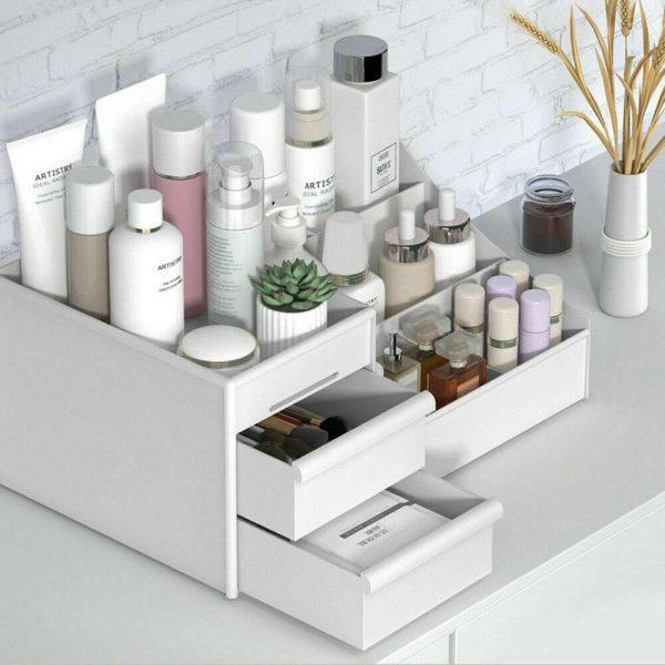 Desktop Storage Box Makeup Drawers Organizer Box Jewelry Container Case Cosmetic (15)