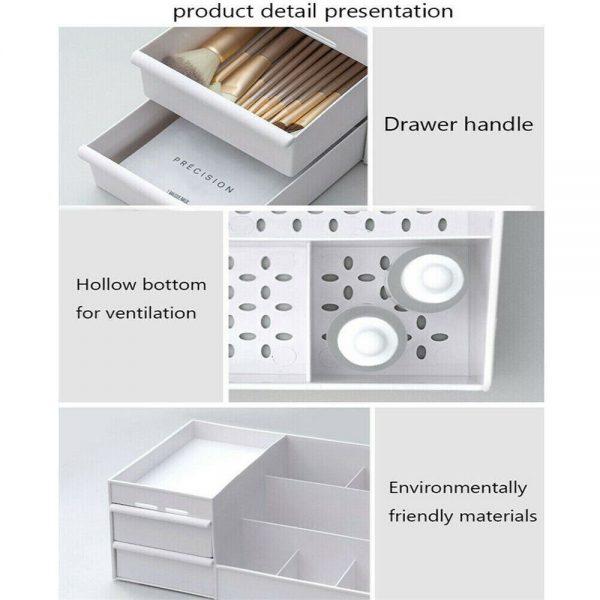 Desktop Storage Box Makeup Drawers Organizer Box Jewelry Container Case Cosmetic (17)