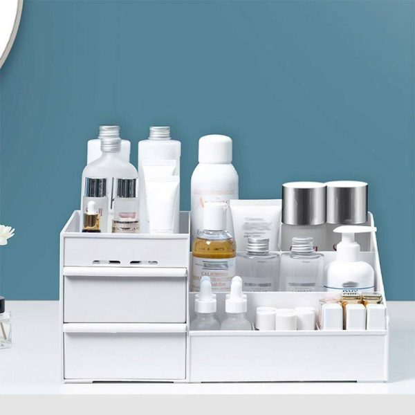 Desktop Storage Box Makeup Drawers Organizer Box Jewelry Container Case Cosmetic (2)