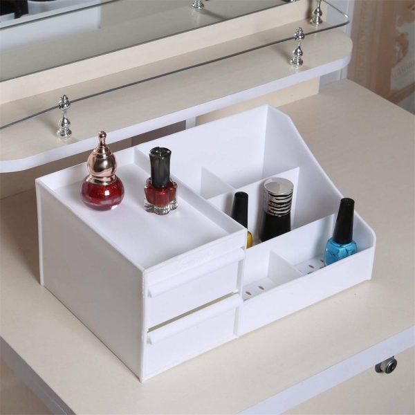 Desktop Storage Box Makeup Drawers Organizer Box Jewelry Container Case Cosmetic (3)