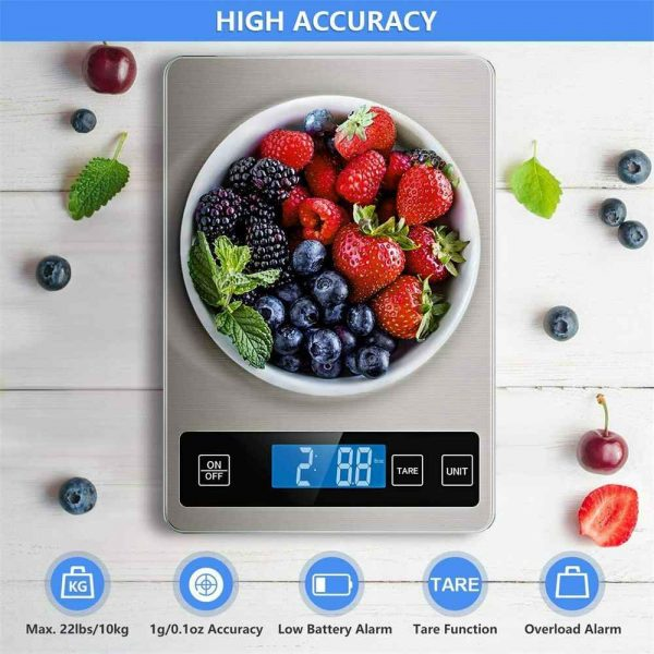 Digital Lcd 1g 10kg Kitchen Electronic Balance Scale Food Weight Steel Scales (10)