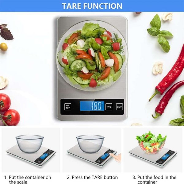 Digital Lcd 1g 10kg Kitchen Electronic Balance Scale Food Weight Steel Scales (4)
