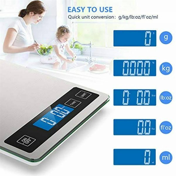 Digital Lcd 1g 10kg Kitchen Electronic Balance Scale Food Weight Steel Scales (5)