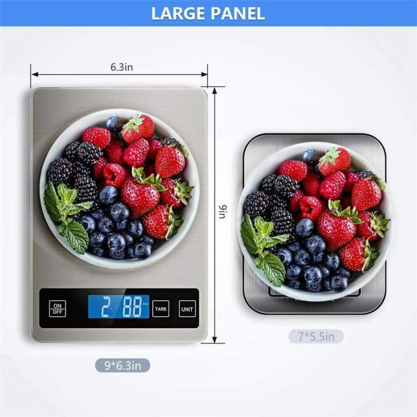 Digital Lcd 1g 10kg Kitchen Electronic Balance Scale Food Weight Steel Scales (8)