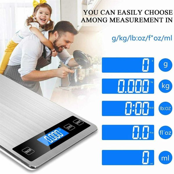 Digital Lcd 1g 10kg Kitchen Electronic Balance Scale Food Weight Steel Scales (9)