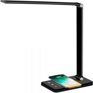 Dimmable Led Desk Lamp Touch With Usb Charging Port 5 Brightness Levels Reading (11)