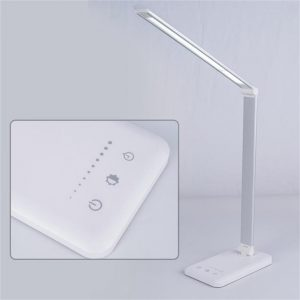 Dimmable Led Desk Lamp Touch With Usb Charging Port 5 Brightness Levels Reading (12)