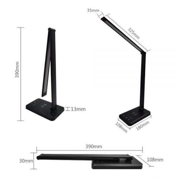Dimmable Led Desk Lamp Touch With Usb Charging Port 5 Brightness Levels Reading (13)