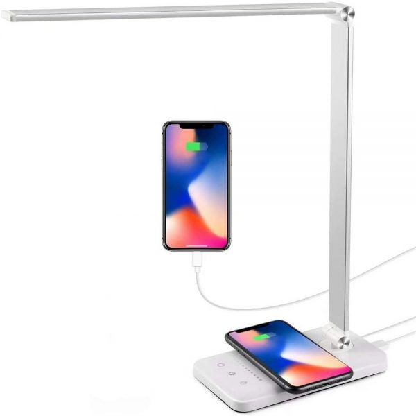Dimmable Led Desk Lamp Touch With Usb Charging Port 5 Brightness Levels Reading (4)
