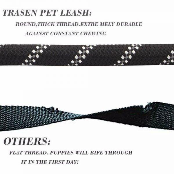 Dog Lead Rope Leash Large Leads Nylon Padded Soft Walking Reflective Braided5ft (10)