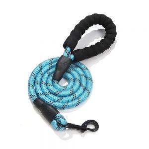 Dog Lead Rope Leash Large Leads Nylon Padded Soft Walking Reflective Braided5ft (13)