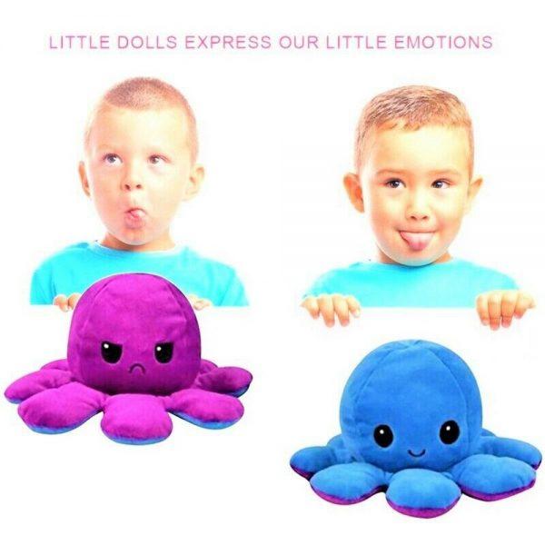 Double Sided Octopus Flip Reversible Marine Life Animals Doll Octopus Plush Toy (4)