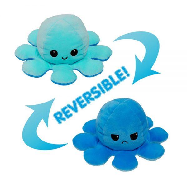 Double Sided Octopus Flip Reversible Marine Life Animals Doll Octopus Plush Toy (6)