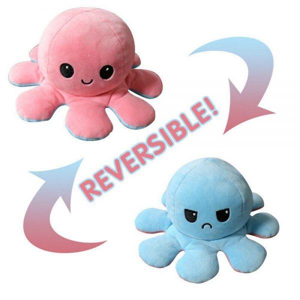 Double Sided Octopus Flip Reversible Marine Life Animals Doll Octopus Plush Toy (9)