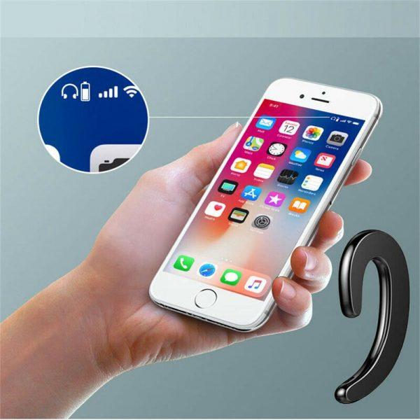 Ear Bluetooth Bone Conduction Headphones Stereo Wireless Earphone Headset+mic (12)