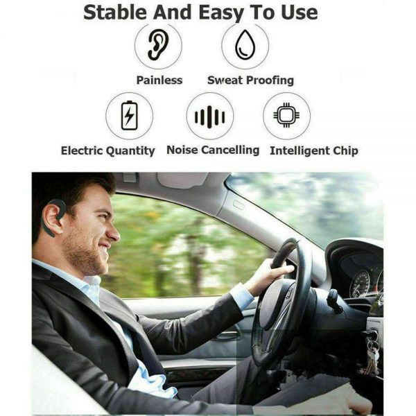 Ear Bluetooth Bone Conduction Headphones Stereo Wireless Earphone Headset+mic (16)