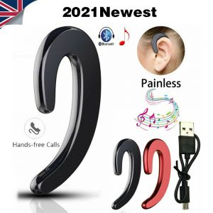 Ear Bluetooth Bone Conduction Headphones Stereo Wireless Earphone Headset+mic