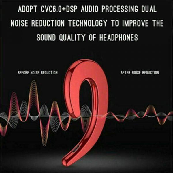 Ear Bluetooth Bone Conduction Headphones Stereo Wireless Earphone Headset+mic (4)