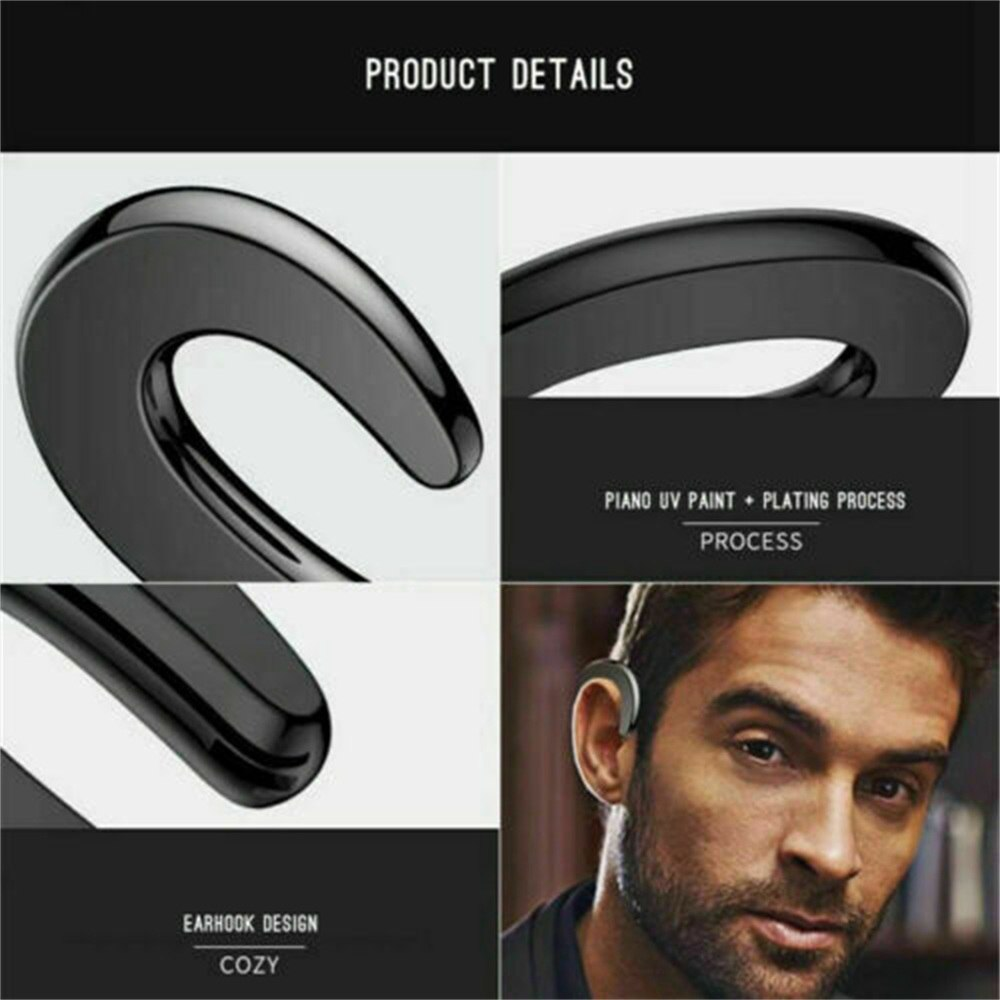 Ear Bluetooth Bone Conduction Headphones Stereo Wireless Earphone Headset+mic (5)
