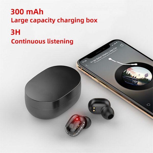 Earbud Stereo Noise Canceling Wireless Tws Earphones Mini Earbuds Portable Headphones (5)
