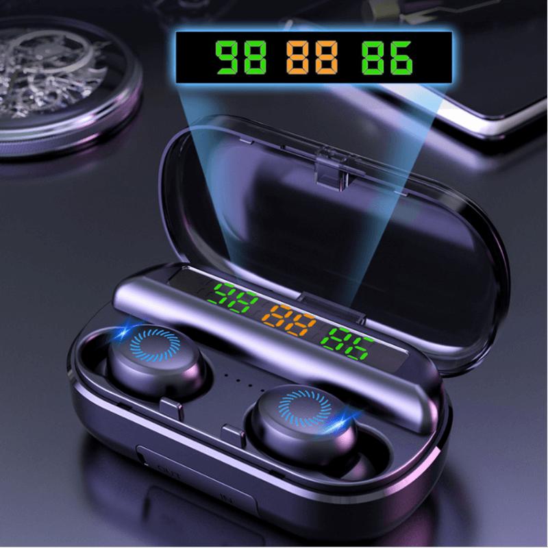 Earbuds Digital Battery Led Display Earphone Wireless Earphone With Mic Charging Case (1)