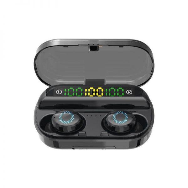 Earbuds Digital Battery Led Display Earphone Wireless Earphone With Mic Charging Case (3)
