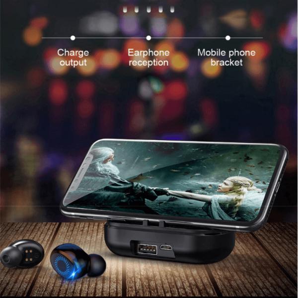 Earbuds Digital Battery Led Display Earphone Wireless Earphone With Mic Charging Case (4)