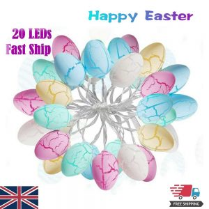 Easter Egg Decorations String Lights Led Festive Fairy Inoutdoor Home Party (10)