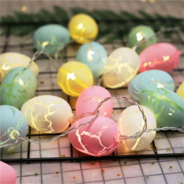 Easter Egg Decorations String Lights Led Festive Fairy Inoutdoor Home Party (12)