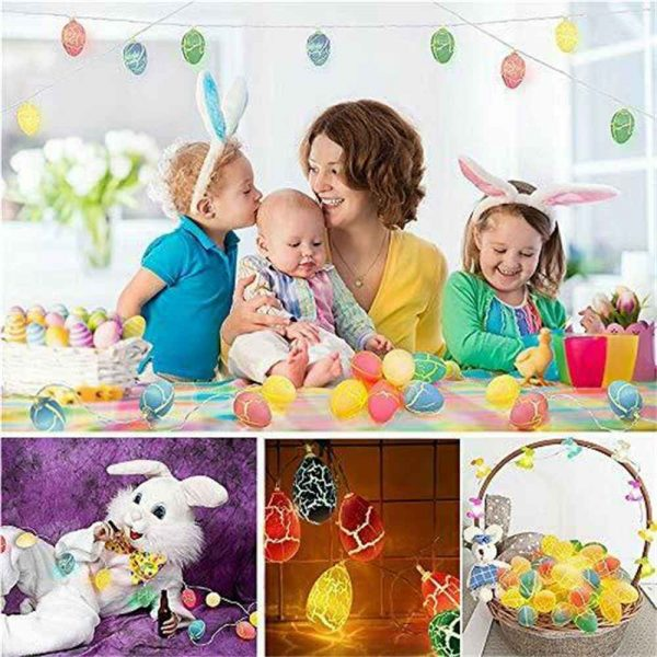 Easter Egg Decorations String Lights Led Festive Fairy Inoutdoor Home Party (13)