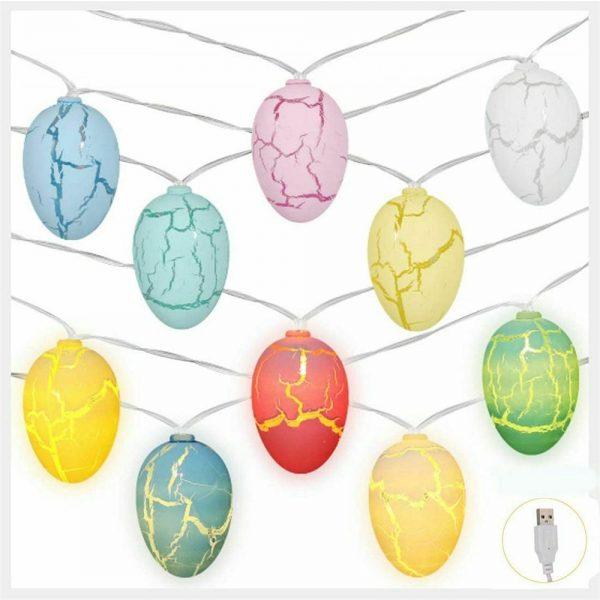 Easter Egg Decorations String Lights Led Festive Fairy Inoutdoor Home Party (16)