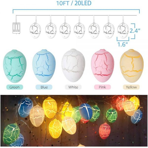 Easter Egg Decorations String Lights Led Festive Fairy Inoutdoor Home Party (3)
