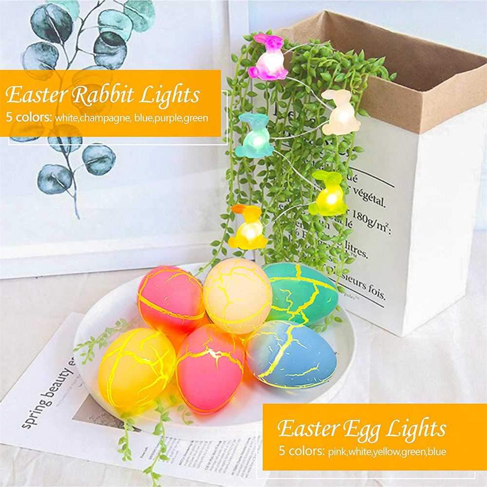 Easter Egg Decorations String Lights Led Festive Fairy Inoutdoor Home Party (5)