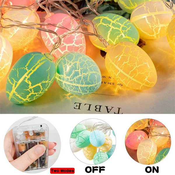 Easter Egg Decorations String Lights Led Festive Fairy Inoutdoor Home Party (7)
