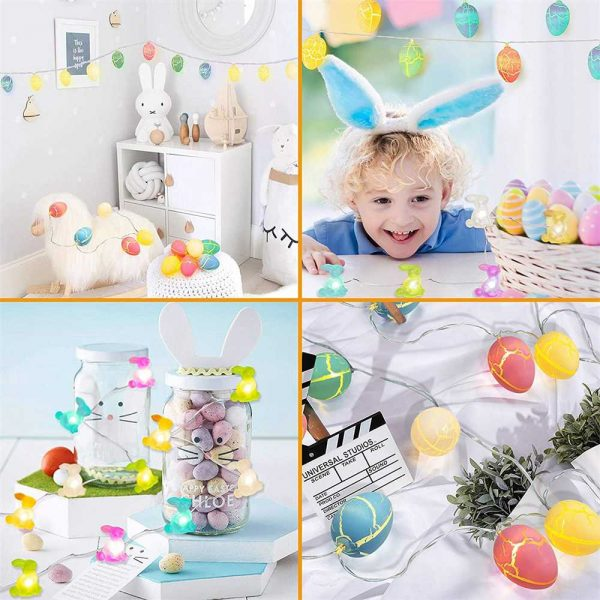 Easter Egg Decorations String Lights Led Festive Fairy Inoutdoor Home Party (8)