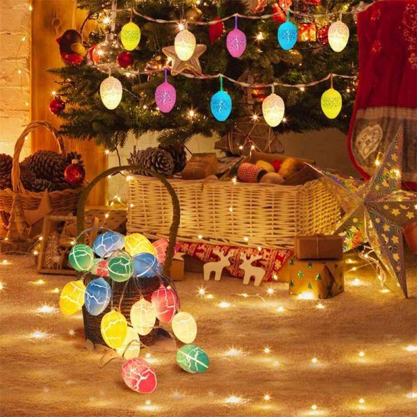 Easter Egg Decorations String Lights Led Festive Fairy Inoutdoor Home Party (9)