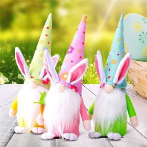 Easter Gnome Bunny Easter Gift Toy Elf Dwarf Home Household Ornaments (12)