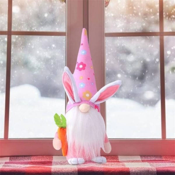 Easter Gnome Bunny Easter Gift Toy Elf Dwarf Home Household Ornaments (2)