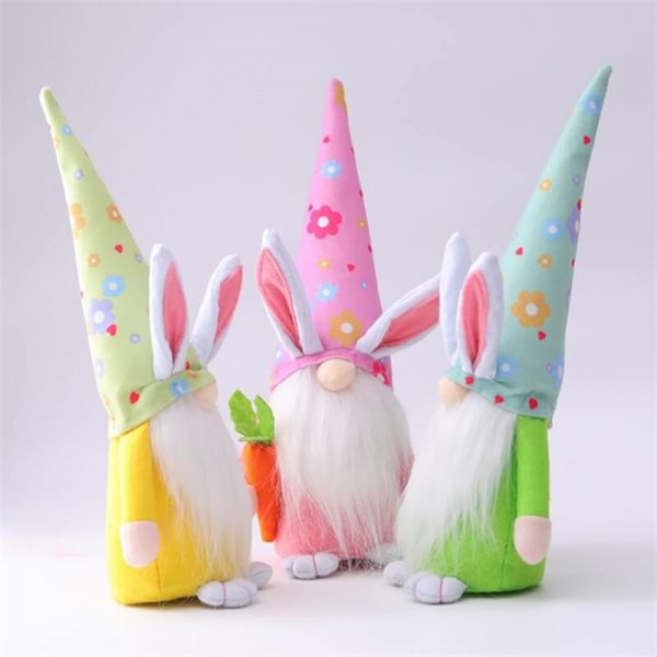 Easter Gnome Bunny Easter Gift Toy Elf Dwarf Home Household Ornaments (3)