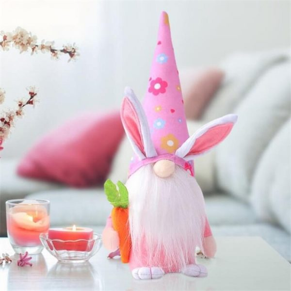 Easter Gnome Bunny Easter Gift Toy Elf Dwarf Home Household Ornaments (8)