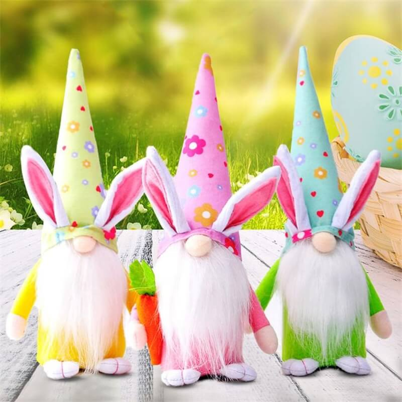 Easter Gnome Bunny Easter Gift Toy Elf Dwarf Home Household Ornaments (9)