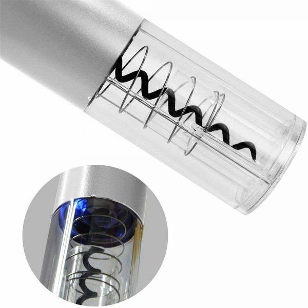 Electric Automatic Quick Wine Bottle Opener Cordless Corkscrew W Foil Cutter (11)