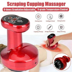 Electric Cupping Massager 9 Grade Scraping Therapy Body Massage Slim Machine (12)