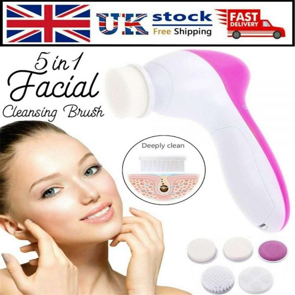 Electric Facial Face Spa Cleansing Brush Beauty Cleanser Exfoliator C7 5 In1 (12)