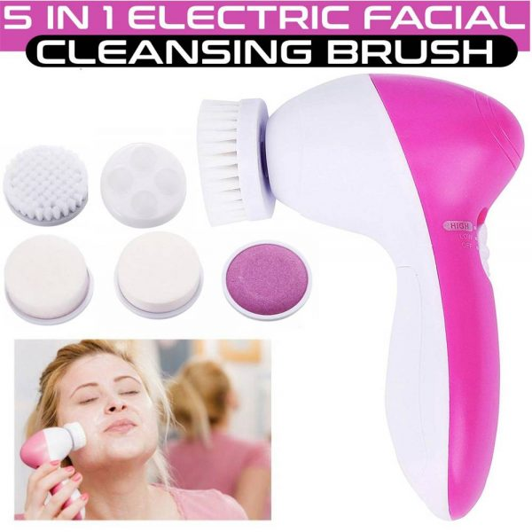 Electric Facial Face Spa Cleansing Brush Beauty Cleanser Exfoliator C7 5 In1 (13)