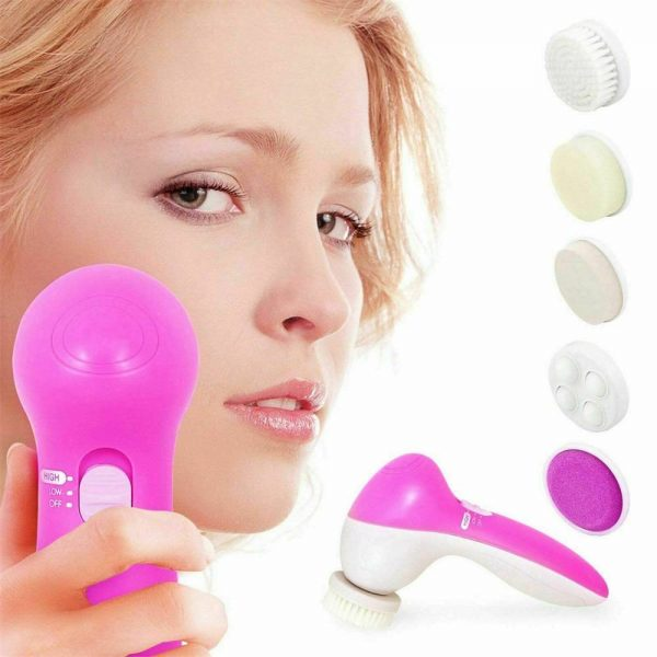 Electric Facial Face Spa Cleansing Brush Beauty Cleanser Exfoliator C7 5 In1 (2)