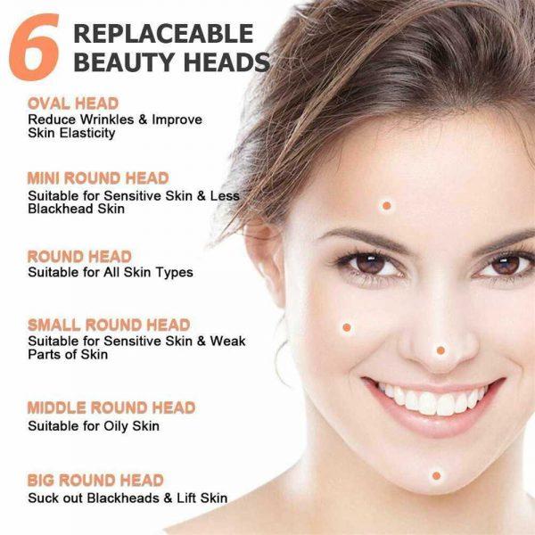 Electric Facial Skin Care Pore Blackhead Remover Cleaner Vacuum Acne Cleanser (3)