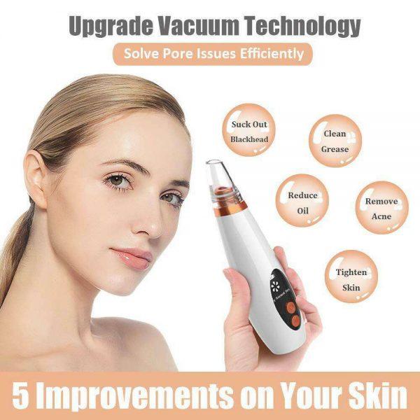 Electric Facial Skin Care Pore Blackhead Remover Cleaner Vacuum Acne Cleanser (5)